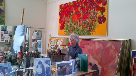 Helen At Work In Her Studio