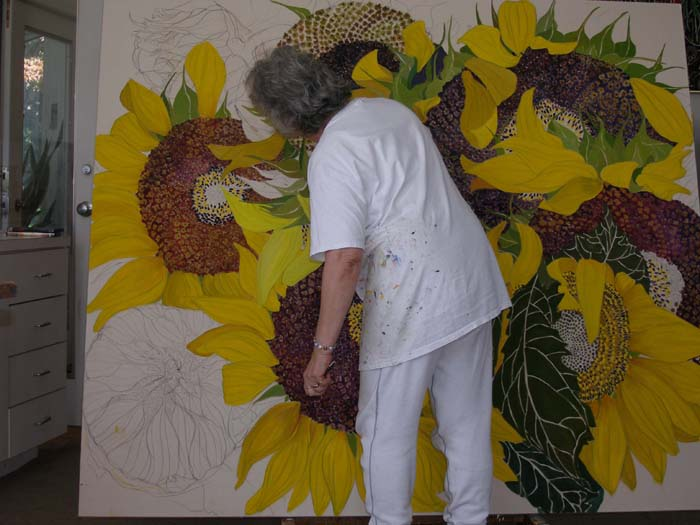 Finishing Sunflowers